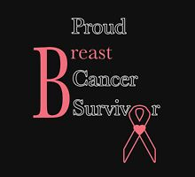 Proud Breast Cancer Survivor Womens Fitted T-Shirt