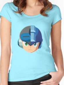 Mega Man-Mighty No. 9 Women's Fitted Scoop T-Shirt