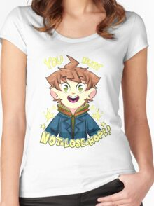 mokoto naegi- you must not lose hope shirt Women's Fitted Scoop T-Shirt