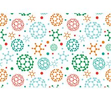 Colorful molecules pattern Photographic Print