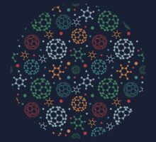 Colorful molecules pattern One Piece - Long Sleeve