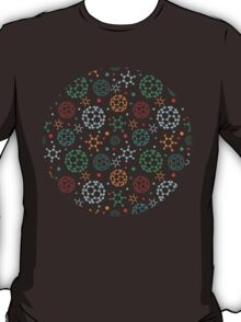 Colorful molecules pattern T-Shirt
