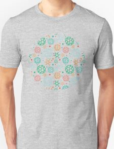 Colorful molecules pattern Unisex T-Shirt