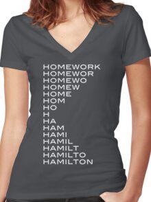 Hamilton > homework Women's Fitted V-Neck T-Shirt