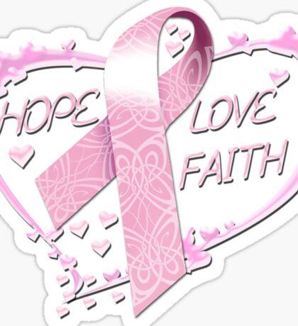 Hope Love Faith Sticker