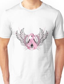 Pink Awareness Tribal Unisex T-Shirt