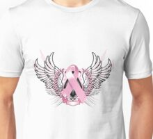 Pink Awareness Tribal Unisex T-Shirt