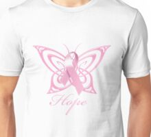 Breast Cancer Hope Butterfly Unisex T-Shirt