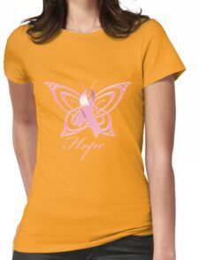 Breast Cancer Hope Butterfly Womens Fitted T-Shirt