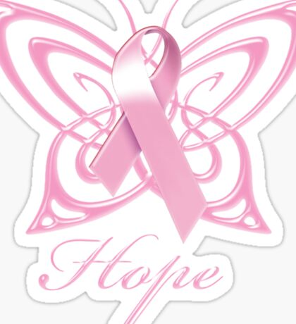 Breast Cancer Hope Butterfly Sticker