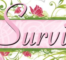 Pink Survivor Floral Sticker
