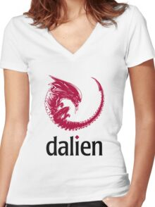 Dalien distro Women's Fitted V-Neck T-Shirt