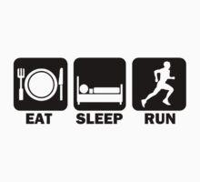 Eat Sleep Run (black) Kids Clothes
