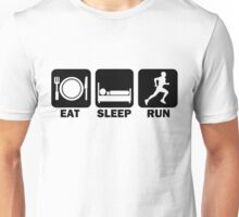 Eat Sleep Run (black) Unisex T-Shirt