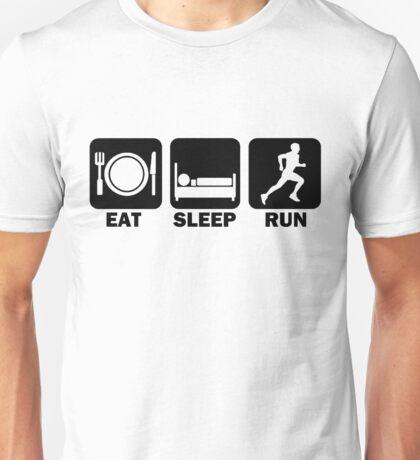 Eat Sleep Run (black) Unisex T-Shirt