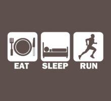 Eat Sleep Run (white) One Piece - Short Sleeve