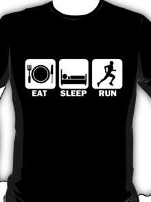 Eat Sleep Run (white) T-Shirt