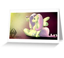 Fluttershy and Butterfly Greeting Card