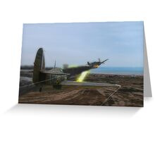 Hurricane Dogfight Greeting Card