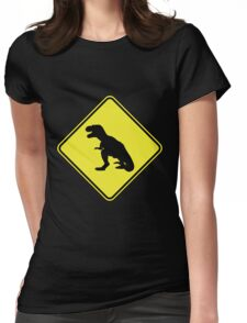 T-Rex Crossing Womens Fitted T-Shirt