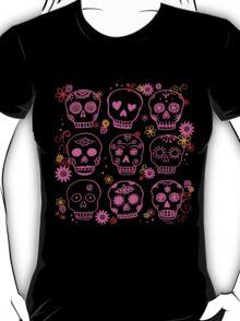 Mexican Pink Skulls T-Shirt