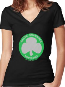 Silver Shamrock Novelties Women's Fitted V-Neck T-Shirt