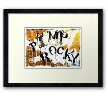 PIMP ROCKY logo - Paul Ryan & Niklas Henke Framed Print