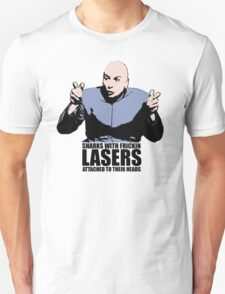 Dr. Evil Sharks With Frickin Lasers Austin Powers Tshirt T-Shirt