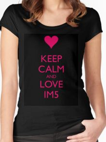 Keep Calm, Love IM5 Women's Fitted Scoop T-Shirt
