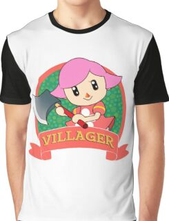 Animal Crossing: Girl Villager Graphic T-Shirt