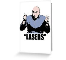 Dr. Evil,  Lasers , Austin Powers, Tshirt Greeting Card