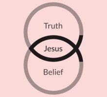 Jesus = Truth + Belief (Black Foreground) by Epistemolojesus