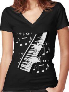 music man Women's Fitted V-Neck T-Shirt