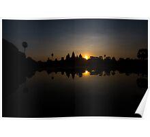 Angkor Wat at sunrise - 2 Poster