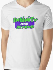 Infinity and Beyond Mens V-Neck T-Shirt
