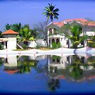 View of the cottages and lagoon water in Alleppey by ashishagarwal74