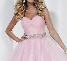 Strapless Pink Party Dress by Hannah S 27808 Prom Dresses Fast Shipping    by vsdgretgrg