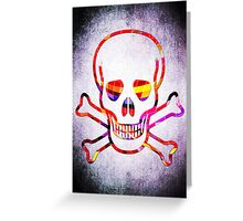 Cool Skull with Colors Palette Greeting Card