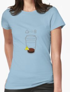 Warning Coffee low Womens Fitted T-Shirt