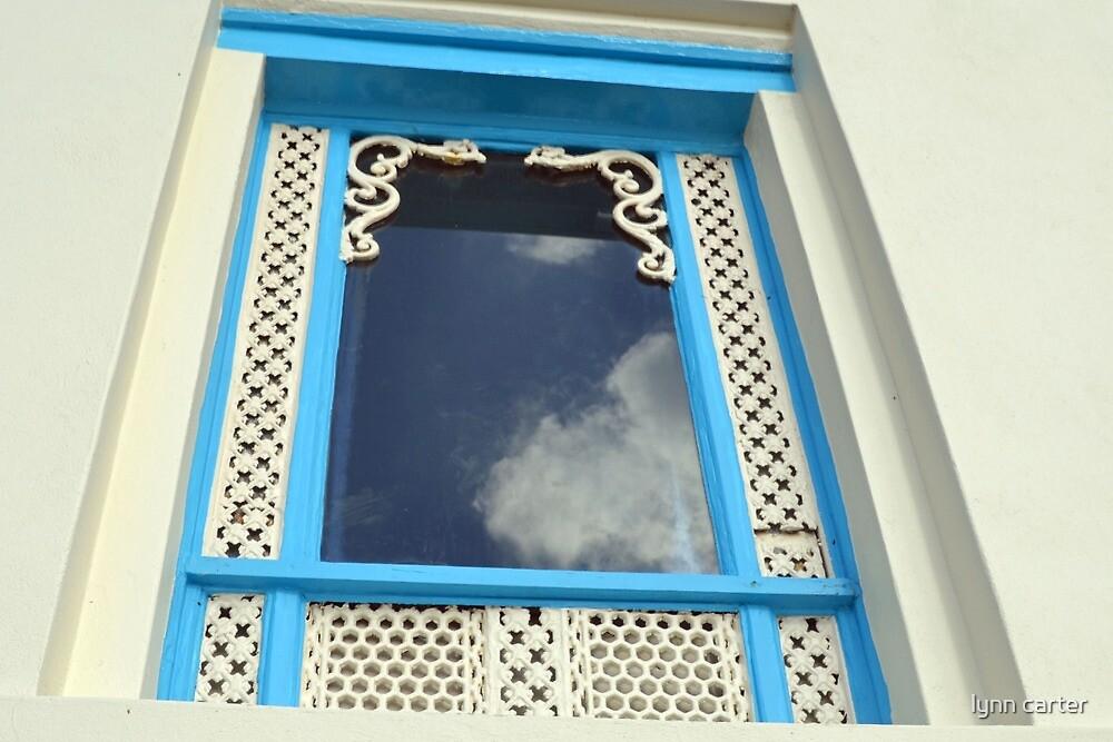 Pretty Clouds In Pretty Window by lynn carter