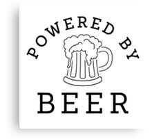 Powered by beer Canvas Print