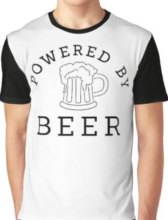 Powered by beer Graphic T-Shirt