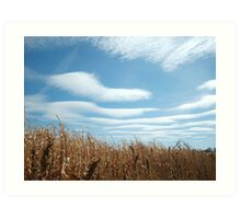 A Country Road with Wavy Clouds Art Print