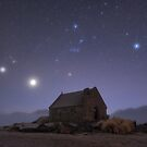 Matariki Rising above the Church of the Good Shepherd by Alex Cherney