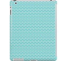 Blue Herringbone Bricks iPad Case/Skin