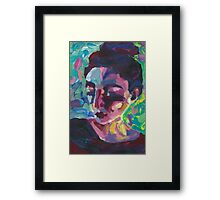 Ally - Portrait of a young woman Framed Print