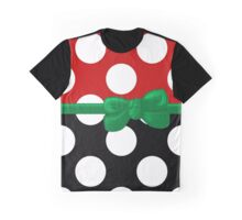 Ribbon, Bow, Polka Dots - Black Red Green Graphic T-Shirt
