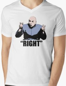 Dr. Evil  Right  Austin Powers Tshirt Mens V-Neck T-Shirt