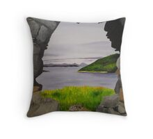 Strome Castle; Another View Throw Pillow