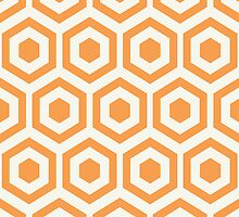 Orange Hexagon Honeycomb by kwg2200